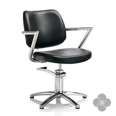 Hair Square fekete fodrász szék - csillag talppal