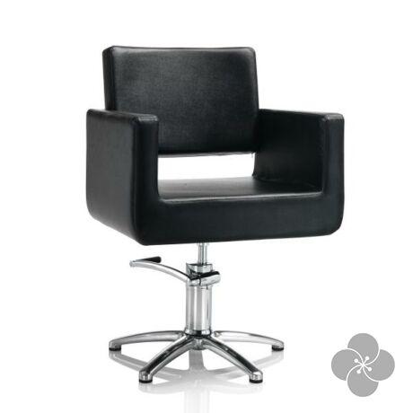 Hair King fekete fodrász szék - csillag talppal
