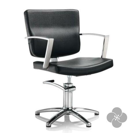 Hair Alpha fekete fodrász szék - csillag talppal