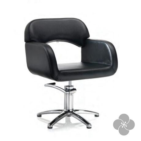 Hair Sage fekete fodrász szék - csillag talppal
