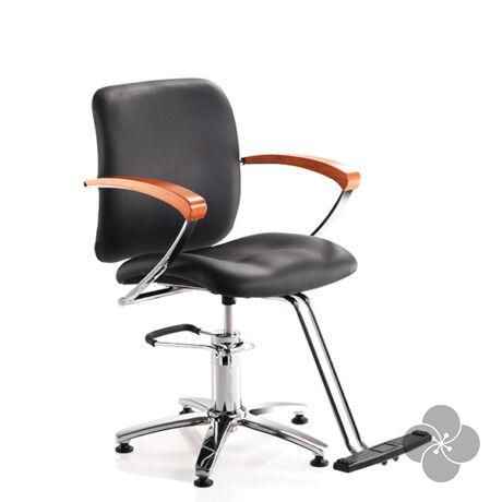 Hair Classic fekete fodrász szék
