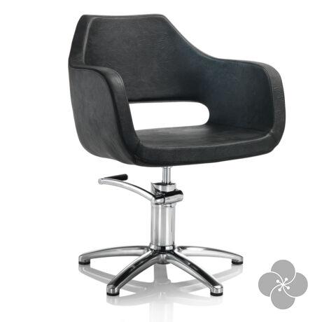 Hair Regency fekete fodrász szék - csillag talppal