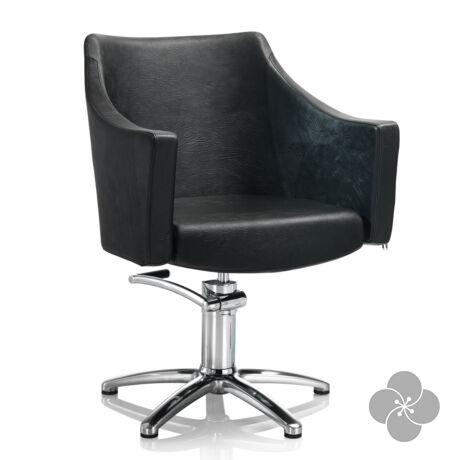 Hair Pagoda fekete fodrász szék - csillag talppal