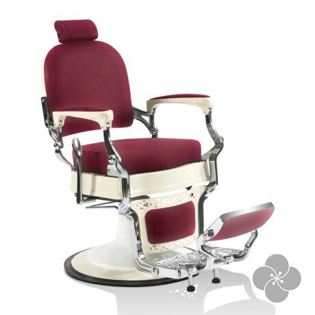 Hair mustang burgundi vörös Barber szék