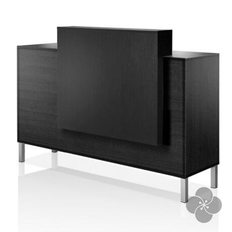 Atrium Consolle fekete recepciós pult