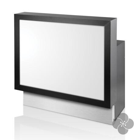 Barlux Consolle fekete recepciós pult