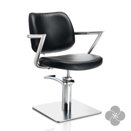 Hair Square fekete fodrász szék - négyzet talppal