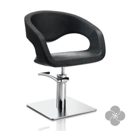 Hair Wave fekete fodrász szék - négyzet talppal