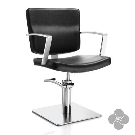 Hair Alpha fekete fodrász szék - négyzet talppal