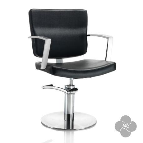 Hair Alpha fekete fodrász szék -  kör talppal