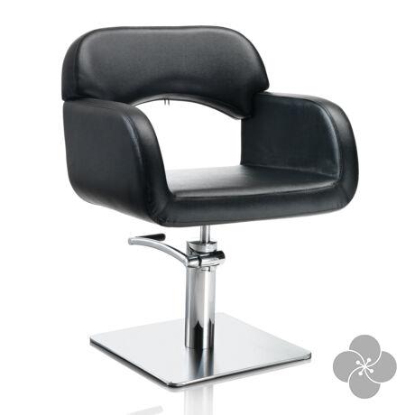 Hair Sage fekete fodrász szék - négyzetes talppal