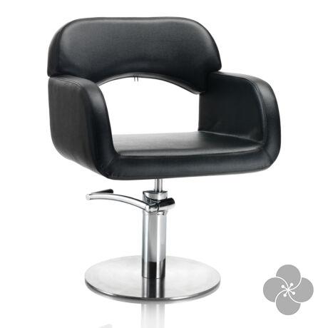 Hair Sage fekete fodrász szék - kör talppal