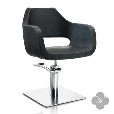 Hair Regency fekete fodrász szék - négyzet talppal