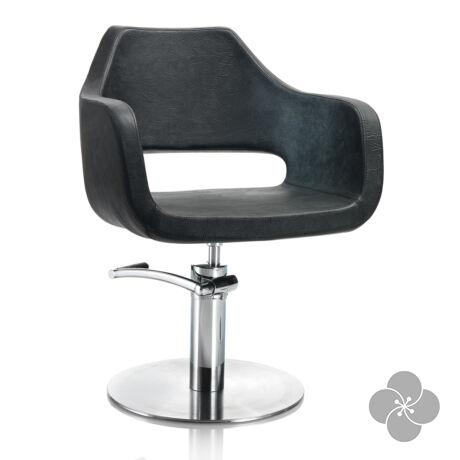 Hair Regency fekete fodrász szék - kör talppal