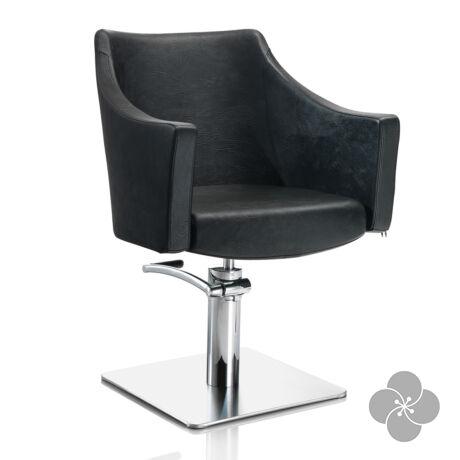 Hair Pagoda fekete fodrász szék - négyzet talppal