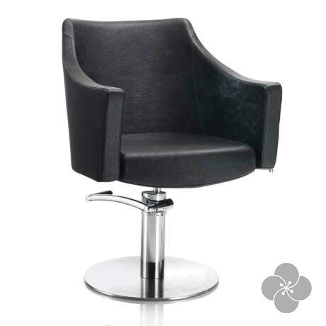 Hair Pagoda fekete fodrász szék - kör talppal