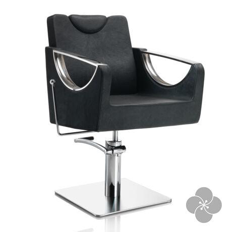 Hair Crown fekete fodrász szék - négyzet talppal