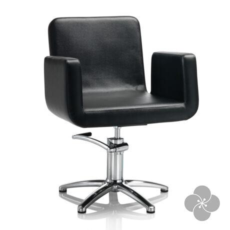 Hair Capital fekete fodrász szék - csillag talppal