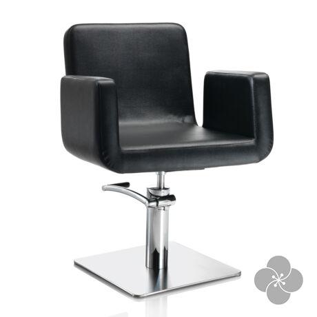 Hair Capital fekete fodrász szék - négyzet talppal