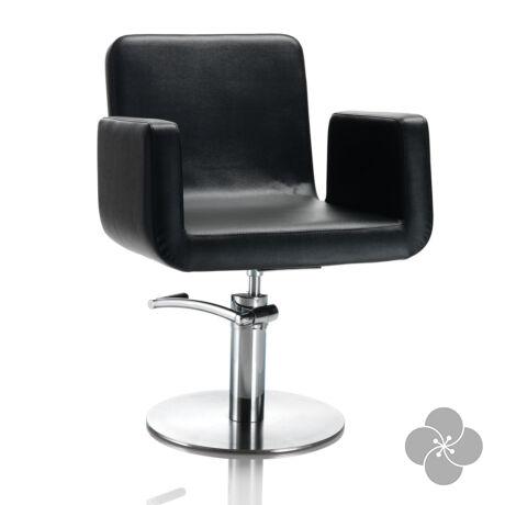 Hair Capital fekete fodrász szék - kör talppal
