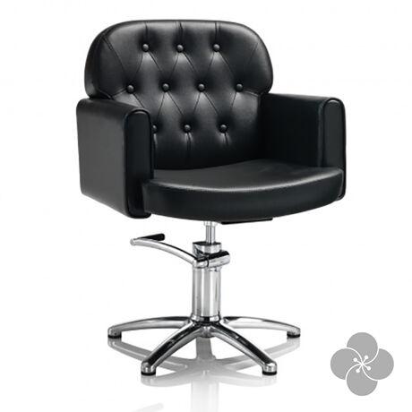 Hair Liberty fekete fodrász szék - csillag talppal
