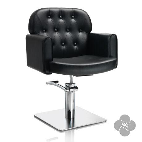 Hair Liberty fekete fodrász szék - négyzet talppal