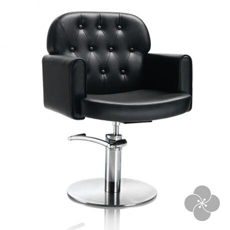 Hair Liberty fekete fodrász szék - kör talppal