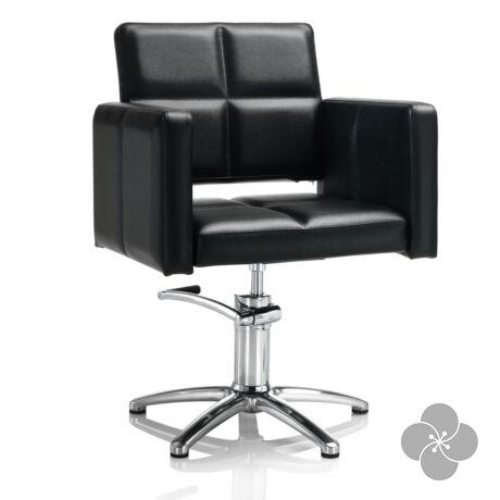 Hair Diamond fekete fodrász szék - csillag talppal
