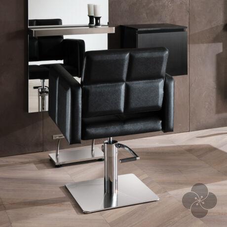 Hair Diamond fekete fodrász szék - négyzet talppal