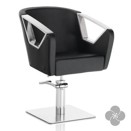 Hair Astra fekete fodrász szék - négyzet talppal