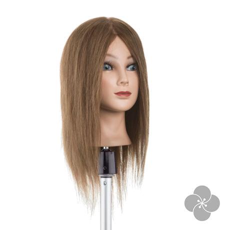 Babafej középhosszú, valódi hajjal - 35cm