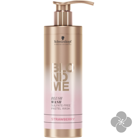 BlondMe Blush Washes Színező sampon Eper 250ml