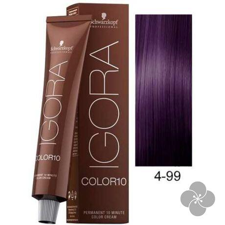 IGORA Color10 4-99krémhajfesték 10 perc hatóidővel, 60 ml