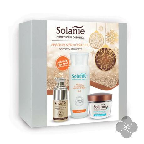 Solanie Argán növényi őssejtes bőrfiatalító csomag + Ajándék törölközővel